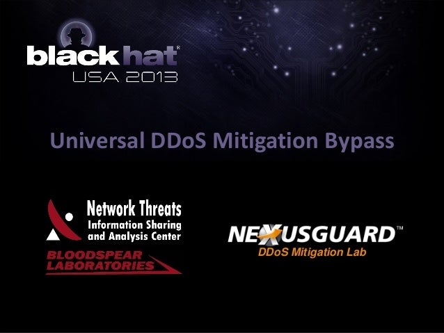 Universal DDoS Mitigation Bypass