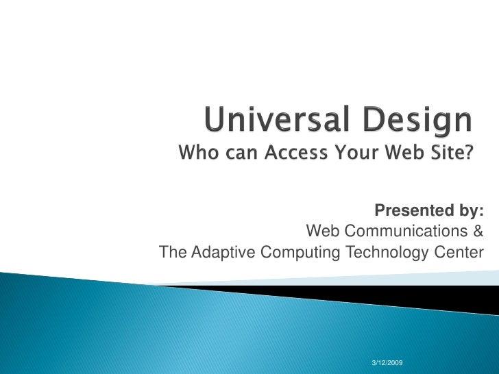 Universal Design Final