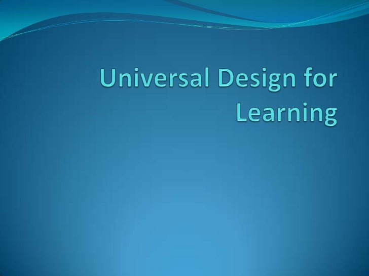 Universal Design for Learning<br />