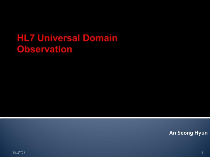 Universal Domain Common observation 20080808