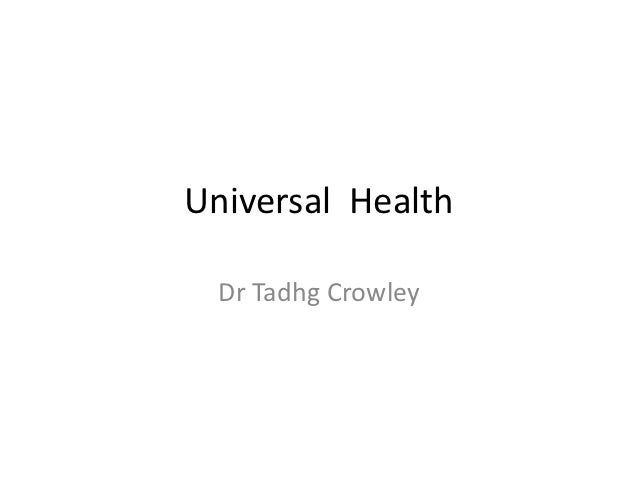 Dr Tadhg Crowley