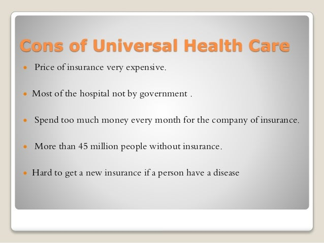 persuasive essay universal healthcare in america An introduction to the health care crisis in america: how did we get here by stephanie kelton september 2007  associate professor of economics, university of.
