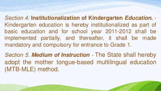 the effectivity of using mother tongue Research on mtb-mle implementation factors affecting the implementation of the mother tongue-based multilingual education as perceived by teachers in baguio and benguet dialyn a gorio.