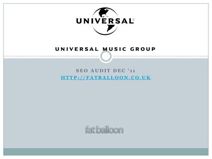 Universal Music Group Audit