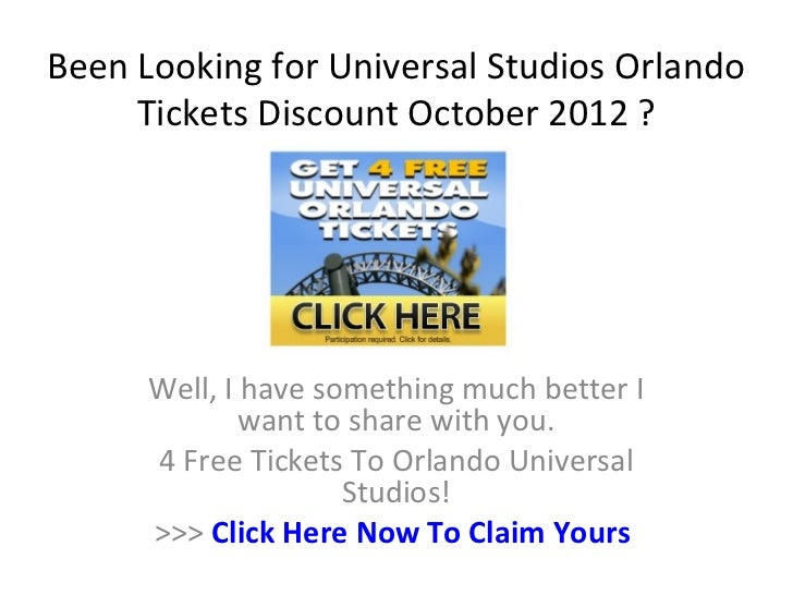 Universal studios orlando tickets discount coupons