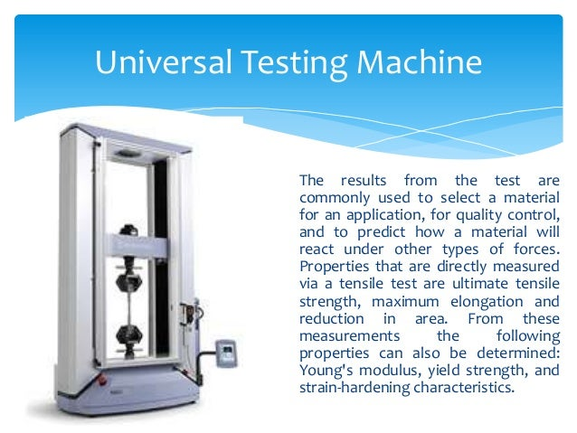 universal quality machine