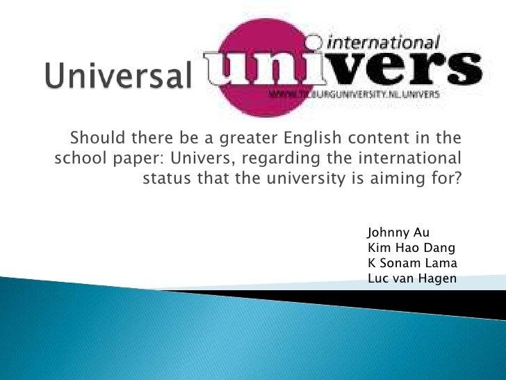 Universal Univers