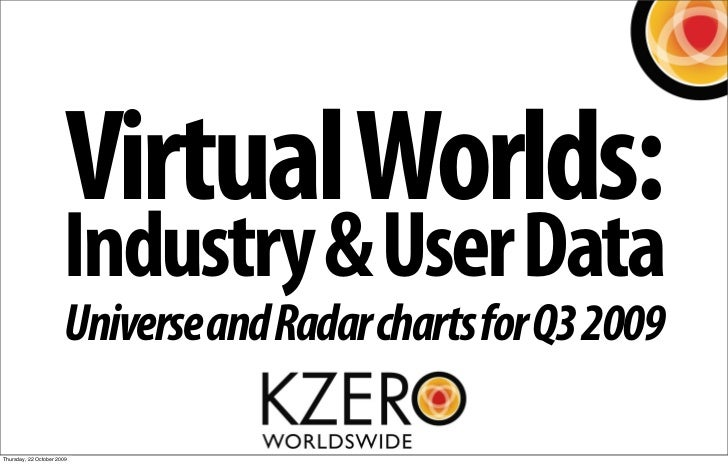 Virtual Worlds:                        Industry & User Data                        Universe and Radar charts for Q3 2009  ...