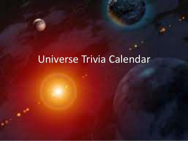 Universe trivia calendar