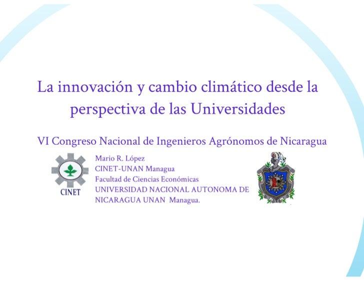 Universidad innova-cambioclimatico