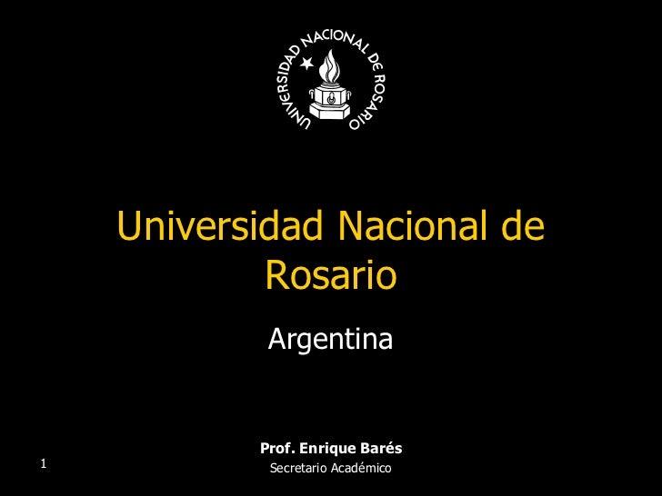Universidad Nacional de Rosario Argentina