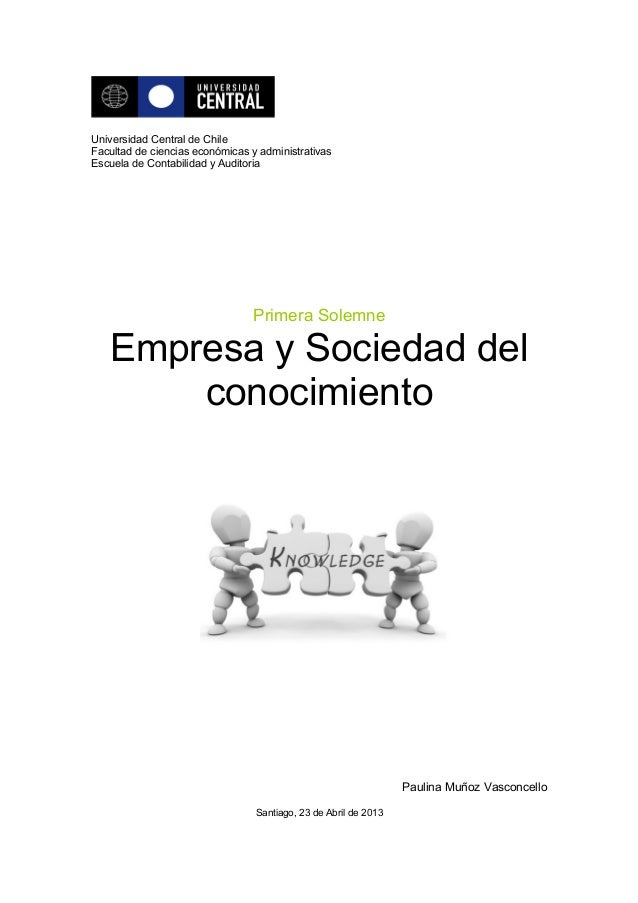 Primera solemne empresa y sociedad del conocimiento