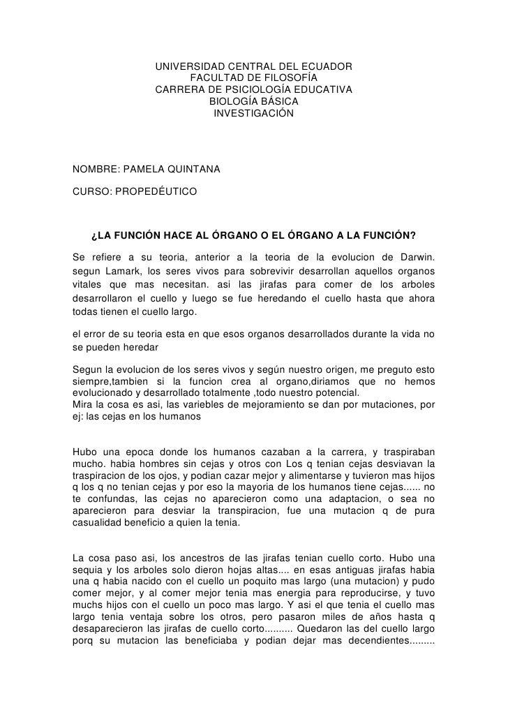 UNIVERSIDAD CENTRAL DEL ECUADOR                        FACULTAD DE FILOSOFÍA                  CARRERA DE PSICIOLOGÍA EDUCA...