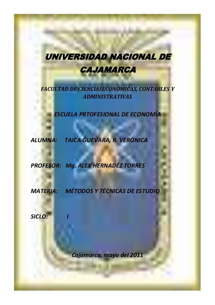 centercenter00<br />UNIVERSIDAD NACIONAL DE CAJAMARCA <br />FACULTAD DE CIENCIASECONÓMICAS, CONTABLES Y ADMINISTRATIVAS<br...