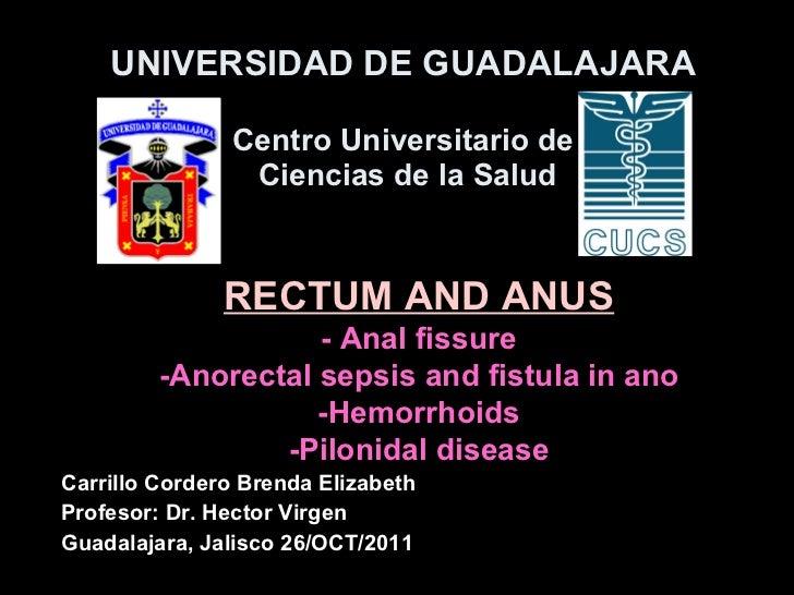 Rectum and anus diseases