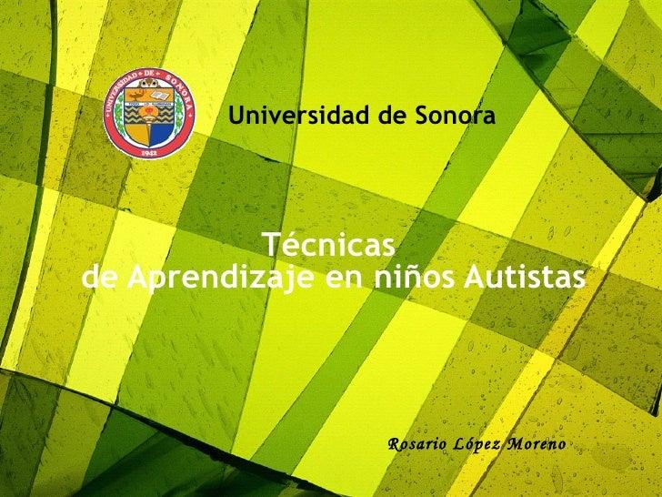 Autismo y Técnicas de Aprendizaje para niños