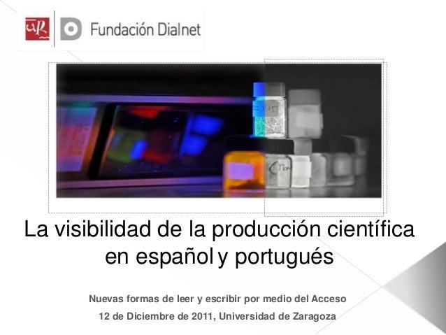 El acceso abierto y difusión del conocimiento científico. D. Ferrán Mateo