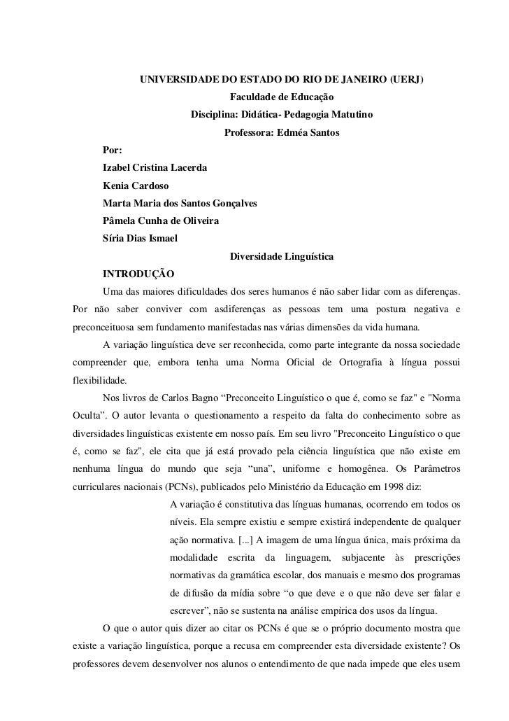 UNIVERSIDADE DO ESTADO DO RIO DE JANEIRO (UERJ)                                      Faculdade de Educação                ...