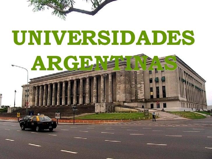 Universidades Argentina