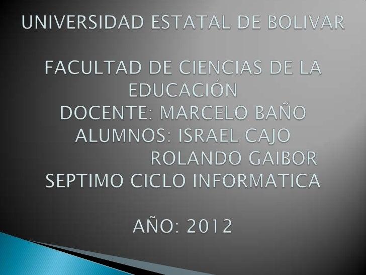 Universidad estatal de bolivar