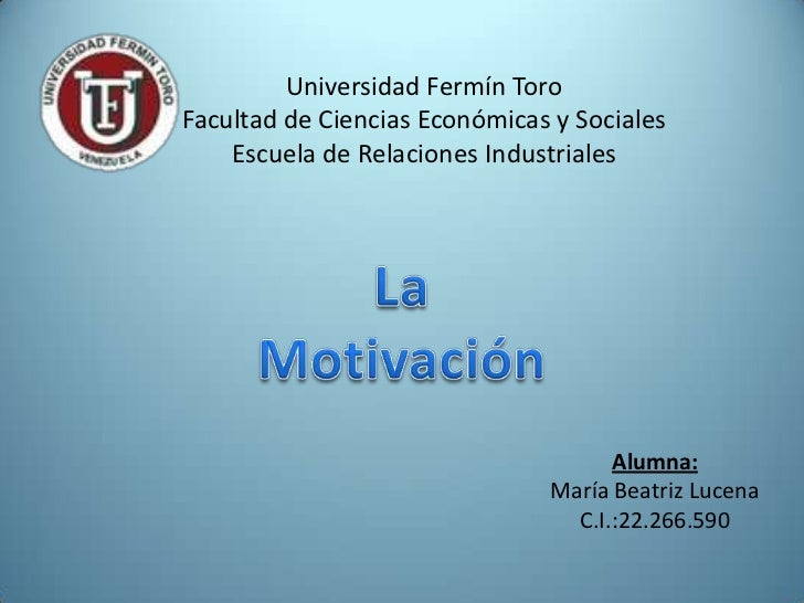 Universidad Fermín ToroFacultad de Ciencias Económicas y Sociales    Escuela de Relaciones Industriales                   ...