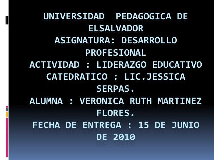 Universidad  pedagogica de elsalvador