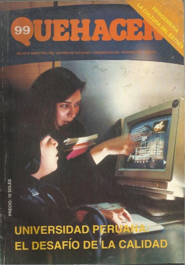 Universidad peruana desafio de la calidad- Revista Quehacer