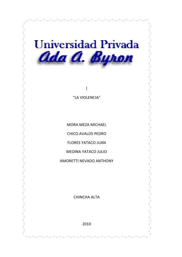 Universidad privada ada a byron