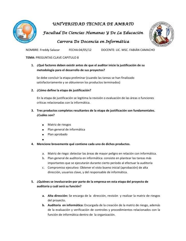 UNIVERSIDAD TECNICA DE AMBATO           Facultad De Ciencias Humanas Y De La Educación                      Carrera De Doc...