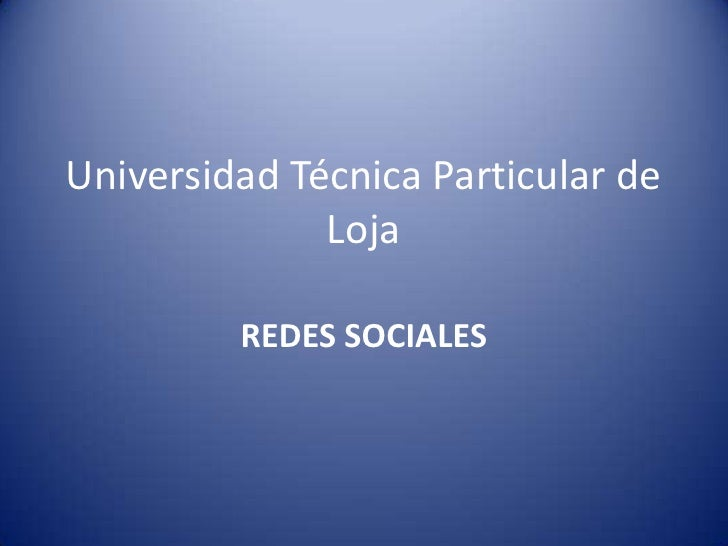 Power Point: Redes Sociales