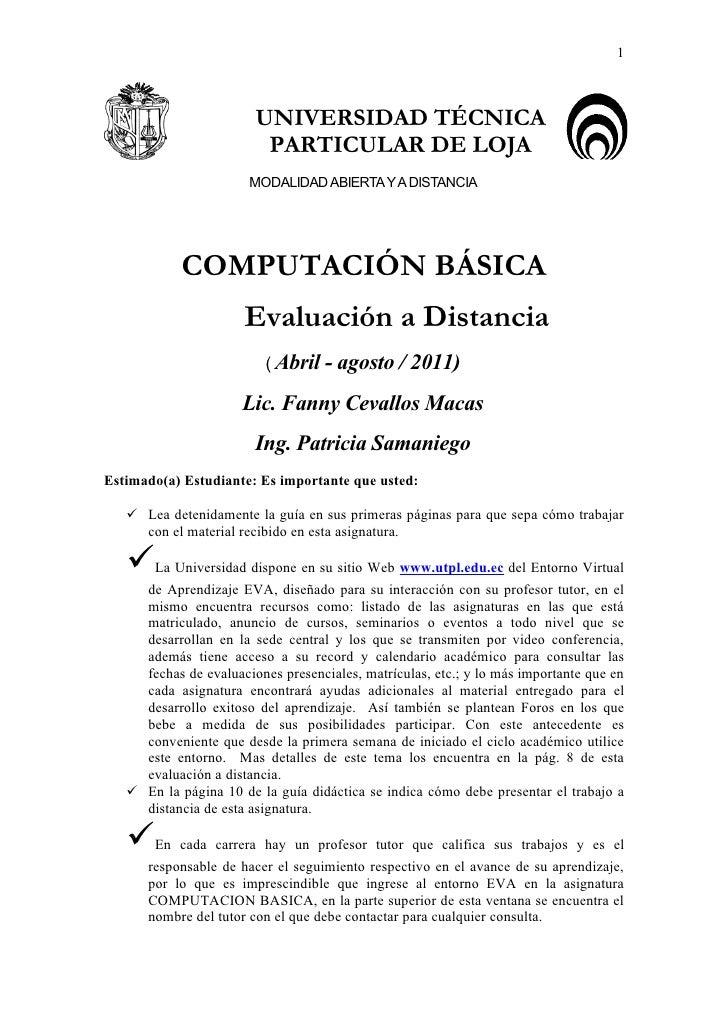 1                        UNIVERSIDAD TÉCNICA                         PARTICULAR DE LOJA                       MODALIDAD AB...