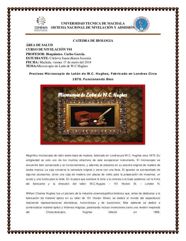 UNIVERSIDAD TECNICA DE MACHALA SISTEMA NACIONAL DE NIVELACIÓN Y ADMISIÓN  CATEDRA DE BIOLOGIA ÁREA DE SALUD CURSO DE NIVEL...