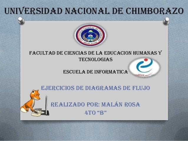 Universidad NACIONAL DE CHIMBORAZO    FACULTAD DE CIENCIAS DE LA EDUCACION HUMANAS Y                     TECNOLOGIAS      ...
