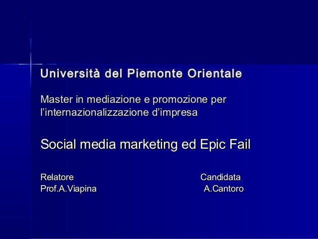Università del Piemonte OrientaleUniversità del Piemonte Orientale Master in mediazione e promozione perMaster in mediazio...