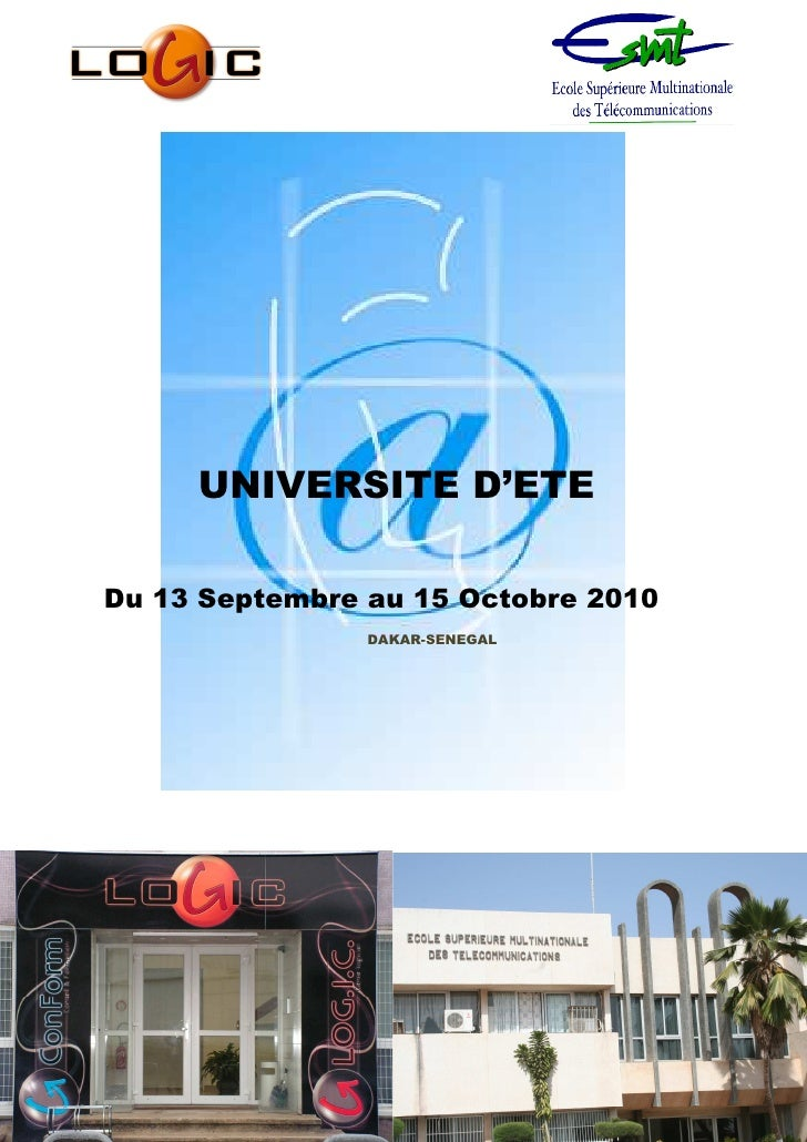 UNIVERSITE D'ETE  Du 13 Septembre au 15 Octobre 2010                 DAKAR-SENEGAL