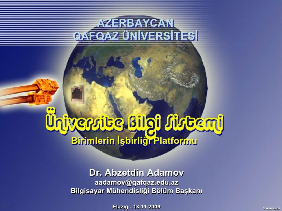 Üniversite Bilgi Sistemi - Birimlerin İşbirliği Platformu