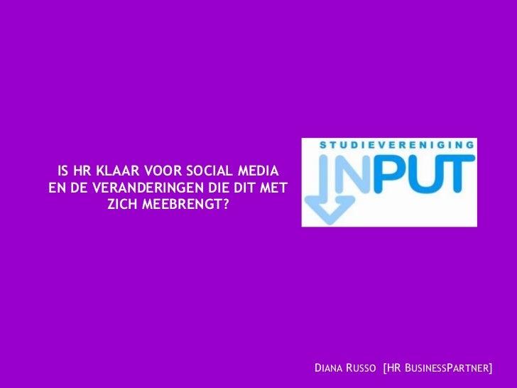 Presentatie Universiteit van Tilburg HR & Social Media