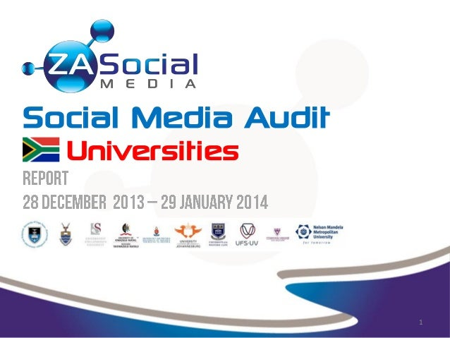Social Media Audit- South African Universities