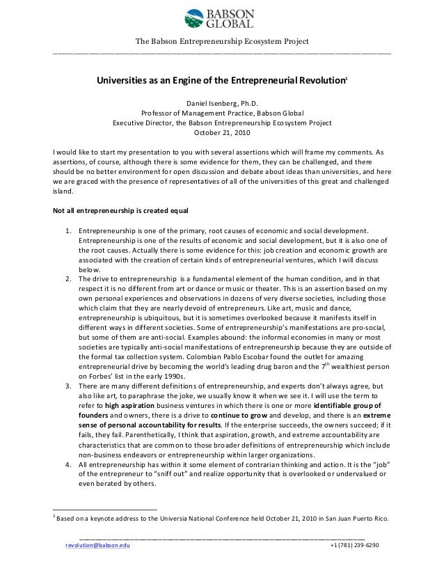 Universities as an Engine of the Entrepreneurial Revolution 2