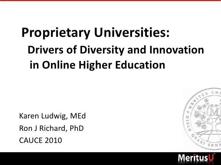 Meritus University: A Proprietary Online University Driving Innovation in Canadian Higher Education