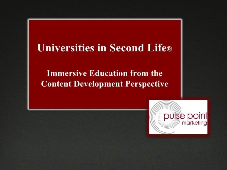 Universities in Second Life, 2010