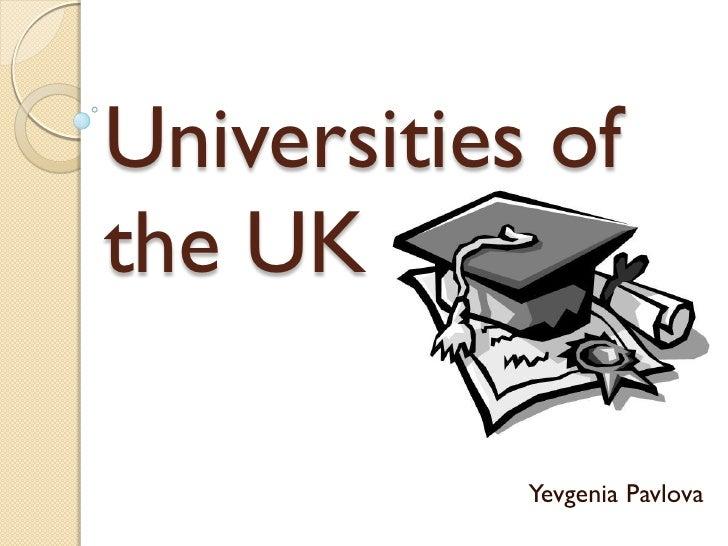 Universities Of The Uk