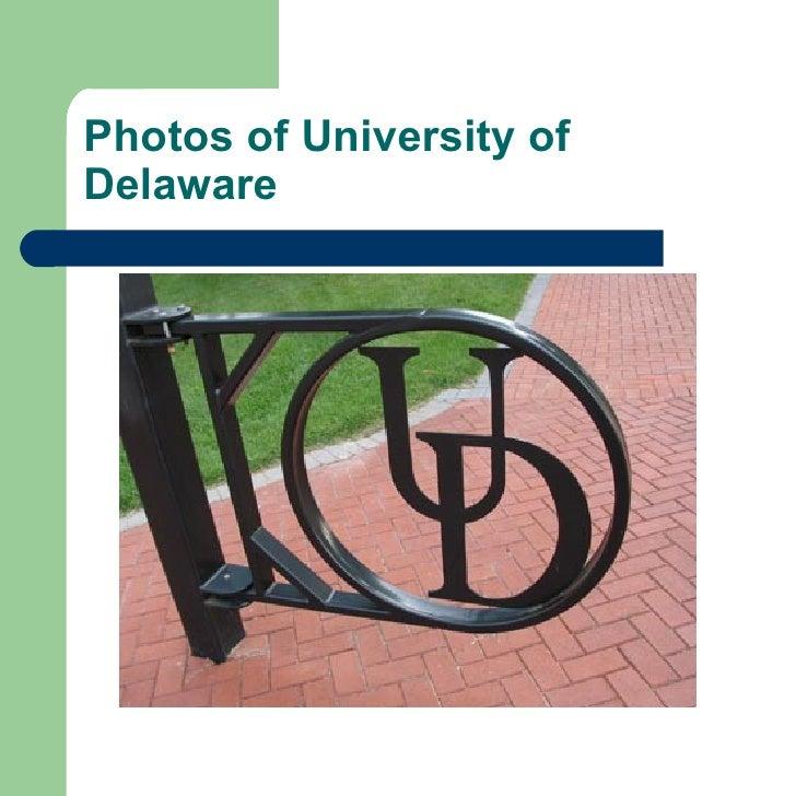 Photos of University of Delaware