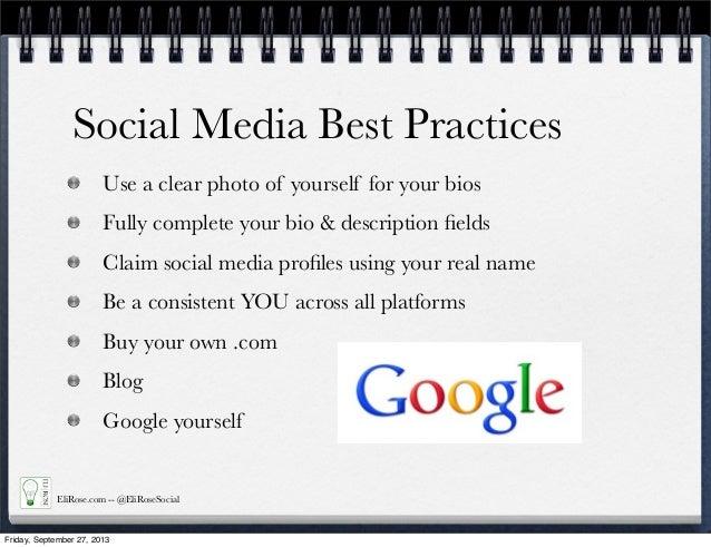 Social Media Bios Social Media Best Practices