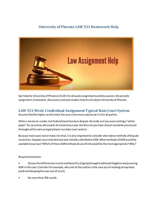Law Assignments