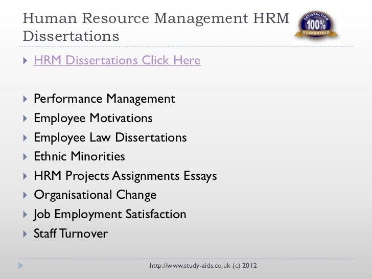 Dissertation international human resource management
