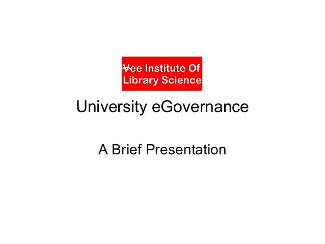 University e governance