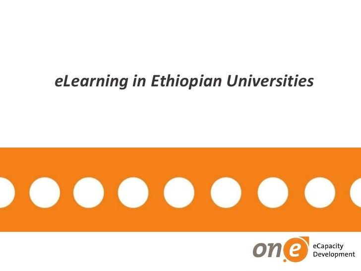 eLearning in Ethiopian Universities