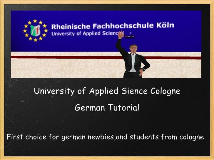 University Of Applied Sience Cologne German Tu