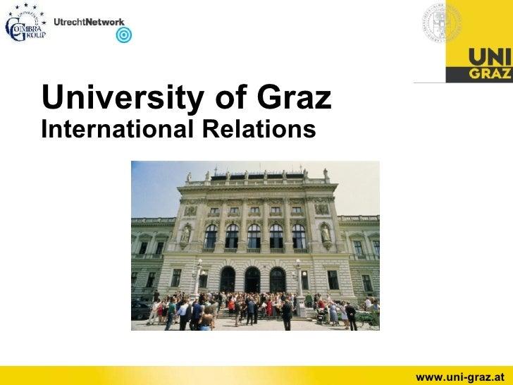 University of Graz International Relations page 1 www.uni-graz.at